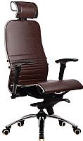 Кресло офисное Metta Samurai K-3 (коричневый) -