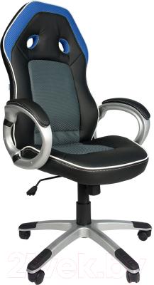 Кресло офисное Everprof Drive (черный/синий)
