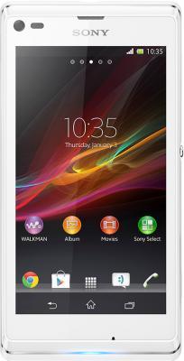 Смартфон Sony Xperia L (C2105) White - вид спереди