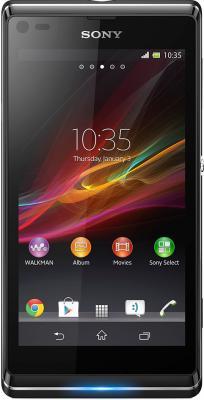 Смартфон Sony Xperia L (C2105) Black - вид спереди