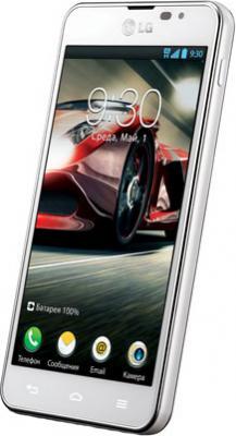 Смартфон LG P875 Optimus F5 White - вполоборота