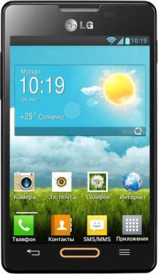 Смартфон LG E440 Optimus L4 II Black - вид спереди