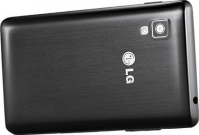 Смартфон LG E440 Optimus L4 II Black - вид сзади