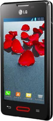 Смартфон LG E440 Optimus L4 II Black - вполоборота