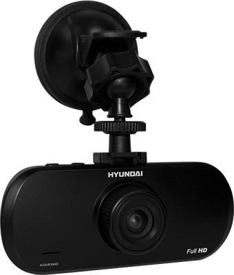 Автомобильный видеорегистратор Hyundai H-DVR16HD - общий вид с креплением
