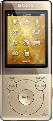 MP3-плеер Sony NWZ-E474 Gold - общий вид