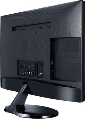 Телевизор LG 27MA53V-PZ Black - вид сзади