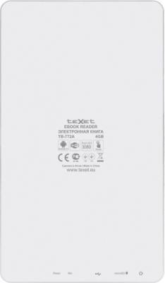 Электронная книга TeXet TB-772A 4GB (White) - вид сзади