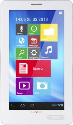 Электронная книга TeXet TB-772A 4GB (White) - фронтальный вид