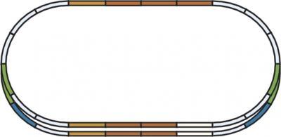 Элемент железной дороги Piko Набор путей E (55340) - схема путей