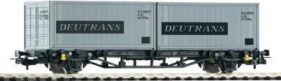 Элемент железной дороги Piko Вагон-платформа с двумя контейнерами (57747) - общий вид
