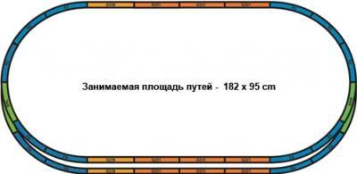 Железная дорога детская Piko Пассажирский экспресс DB (59100) - схема путей
