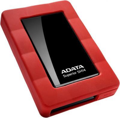 Внешний жесткий диск A-data Superior SH14 750GB Red (ASH14-750GU3-CRD) - общий вид