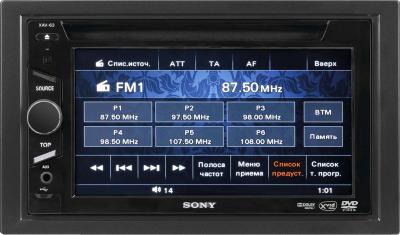 Автомагнитола Sony XAV-63 - общий вид
