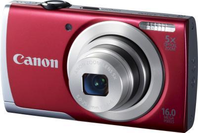 Компактный фотоаппарат Canon PowerShot A2500 Red - общий вид