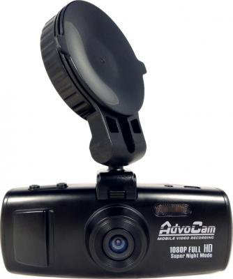 Автомобильный видеорегистратор AdvoCam FD5 Profi-GPS - фронтальный вид с креплением