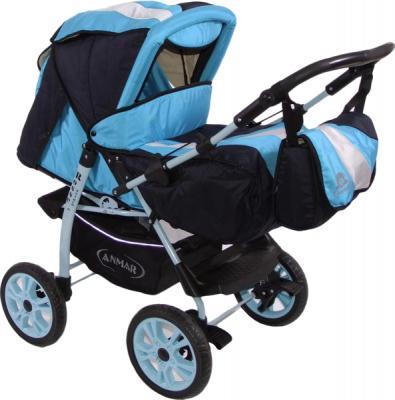 Детская универсальная коляска Anmar Rosse Golden (Blue) - общий вид