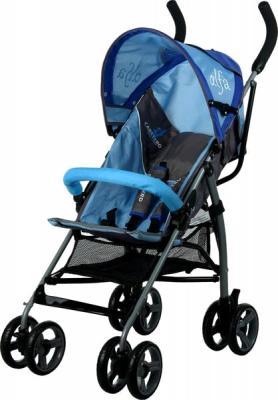Детская прогулочная коляска Caretero Alfa (Blue) - общий вид