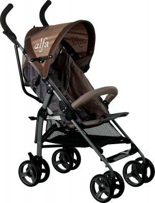 Детская прогулочная коляска Caretero Alfa (Brown) - общий вид