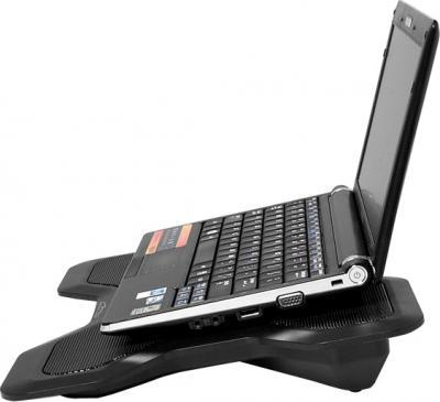 Подставка для ноутбука Media-Tech Heat Buster 1 MT2655 - вид с ноутбуком