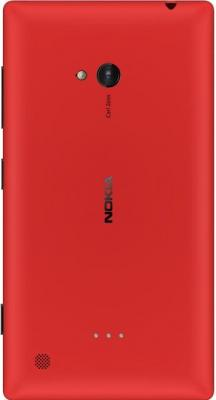 Смартфон Nokia Lumia 720 Red - вид сзади