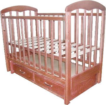 Детская кроватка РИО Виктория (Орех) - общий вид