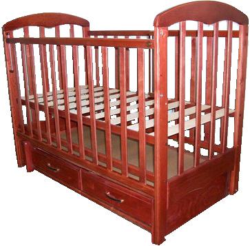 Детская кроватка РИО Виктория (Вишня) - общий вид