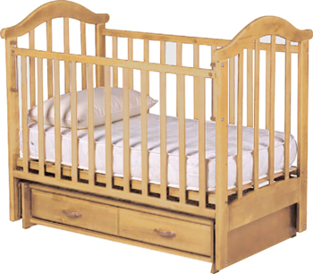 Детская кроватка РИО Виктория-2 м (Натуральный цвет) - общий вид
