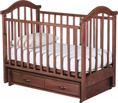 Детская кроватка РИО Виктория-2 м (Орех) - общий вид