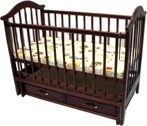 Детская кроватка РИО Виктория-2 м (Темный шоколад) - общий вид