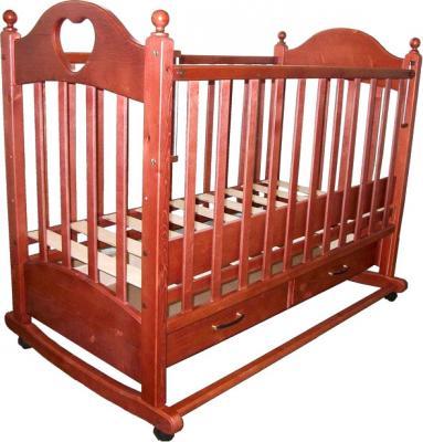 Детская кроватка РИО Джулия с сердечком (Вишня) - общий вид