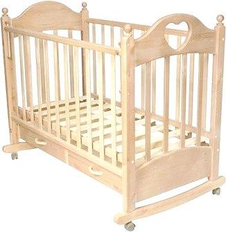 Детская кроватка РИО Джулия с сердечком (Слоновая кость)