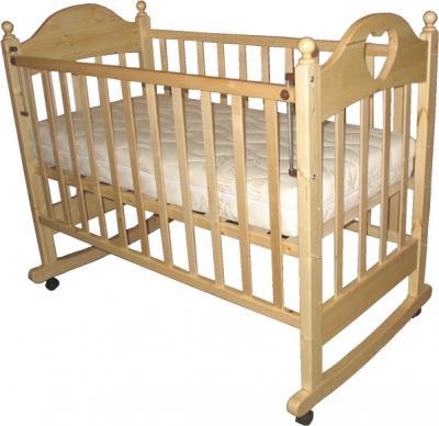 Детская кроватка РИО Вероника с сердечком (Натуральный цвет) - общий вид