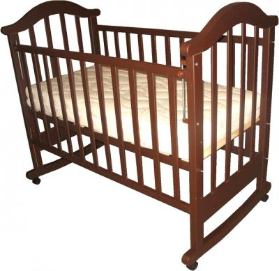 Детская кроватка РИО Виктория-2 к (Темный шоколад) - общий вид