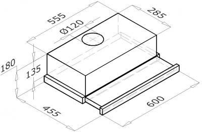 Вытяжка телескопическая Backer TH60BHS-2M (Inox) - схема
