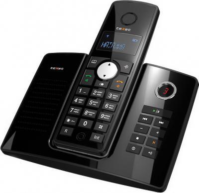 Беспроводной телефон TeXet TX-D4850A Black - общий вид