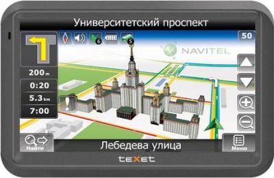 GPS навигатор TeXet TN-733 Black - вид спереди