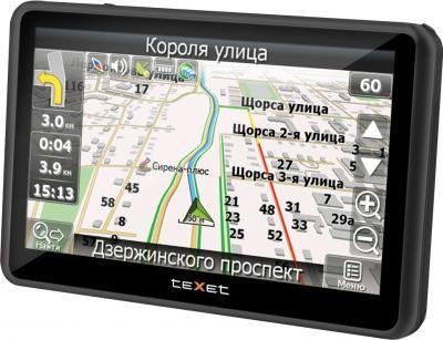 GPS навигатор TeXet TN-744 Black - вид сбоку