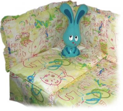 Комплект в кроватку Ночка Каляки-маляки 3 - бампер в комплект не входит