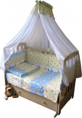 Комплект в кроватку Ночка Буслики 3 - бампер и балдахин в комплект не входят
