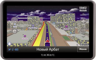GPS навигатор TeXet TN-822 (Gray) - вид спереди