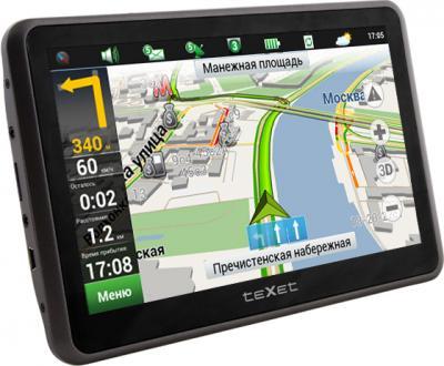 GPS навигатор TeXet TN-822 (Gray) - вид сбоку