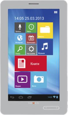 Электронная книга TeXet TB-772A 4GB (Gray) - фронтальный вид