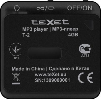 MP3-плеер TeXet T-2 (4Gb) Black - вид сзади