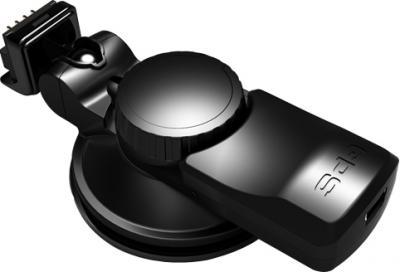 """Автомобильный видеорегистратор TeXet DVR-5GP - крепление """"Easy-Touch"""" с GPS-антенной (вид сзади)"""