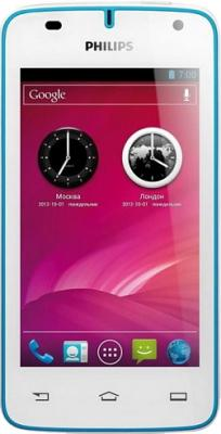 Смартфон Philips W536 White-Blue - вид спереди