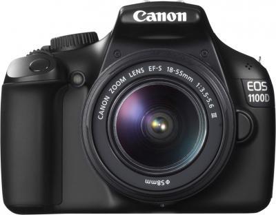 Зеркальный фотоаппарат Canon EOS 1100D Kit EF-S 18-55mm III - вид спереди