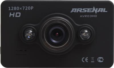 Автомобильный видеорегистратор Arsenal AVR03HD - фронтальный вид