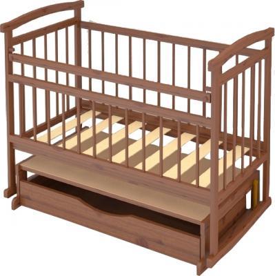 Детская кроватка Бэби Бум Аленка-3 (Орех) - крышка над ящиком не предусмотрена