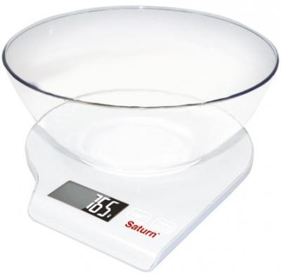 Кухонные весы Saturn ST-KS7803 (белый) - общий вид